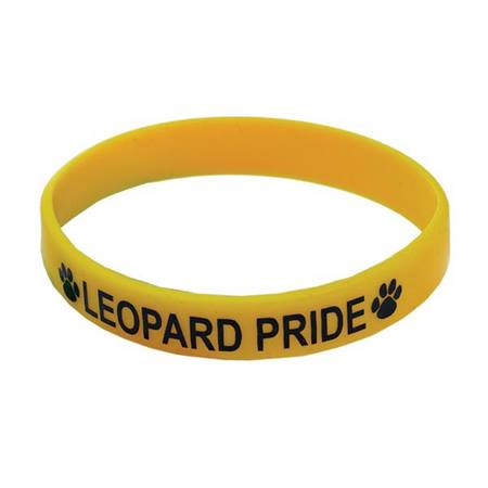 Yellow Screen-printed Silicone Wristband