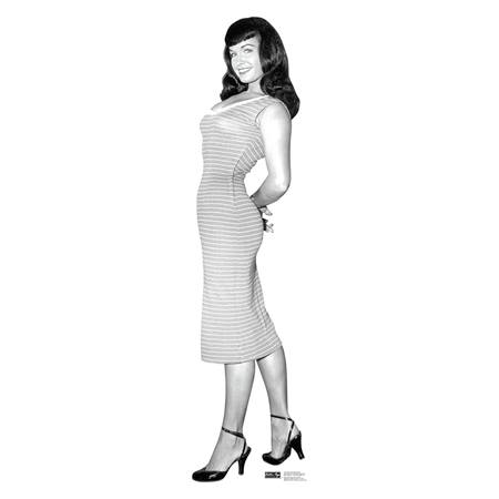Bettie Page Striped Dress Stand-Up