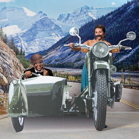 Motorcycle with Sidecar Photo Scene