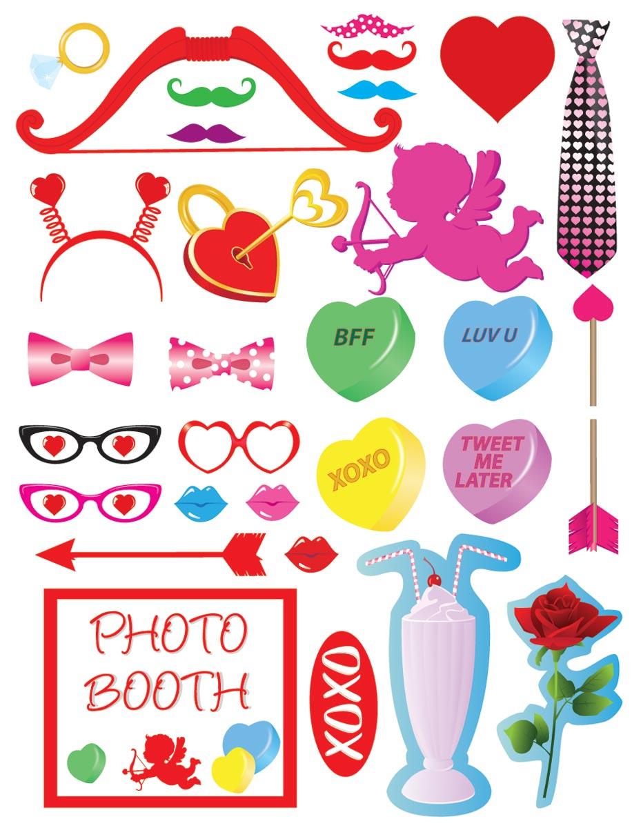 Valentineu0027s Day Photo Prop Kit