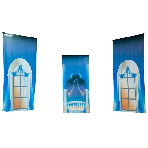 Glamorous Glow Window Murals Kit - set of 3