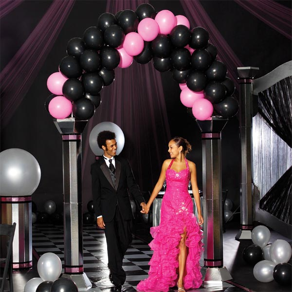 Pretty with Pink Black Balloon Arch Kit