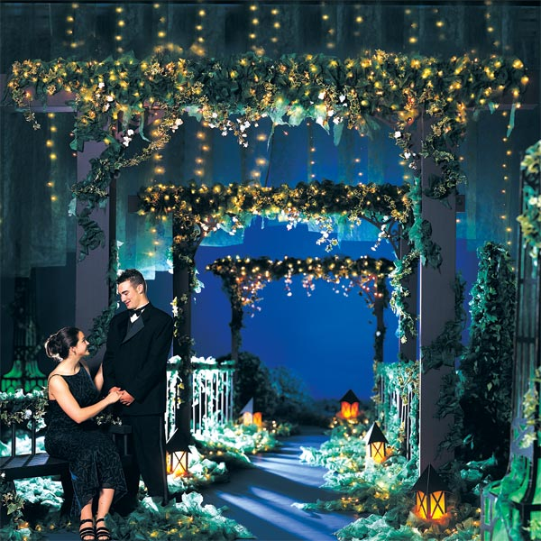 Le jardin de l 39 amour complete prom theme anderson 39 s for Decoration theme jardin
