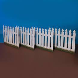 Perfectly Rustic Picket Fences Kit (set of 4)