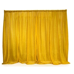 Easy-up Fabric Backdrop - Gold Metallic
