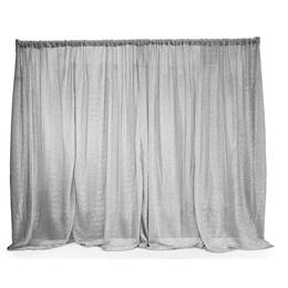 Easy-up Fabric Backdrop - Silver Metallic
