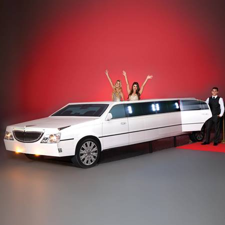 White Stretch Limousine Photo Op