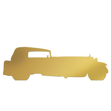 Gold Classic Stretch 2 Car Silhouette Kit