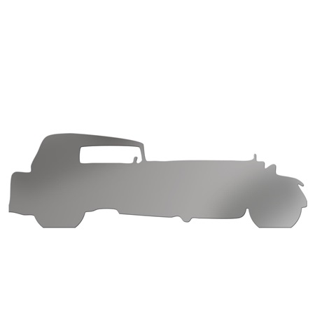 Silver Classic Stretch 2 Car Silhouette Kit
