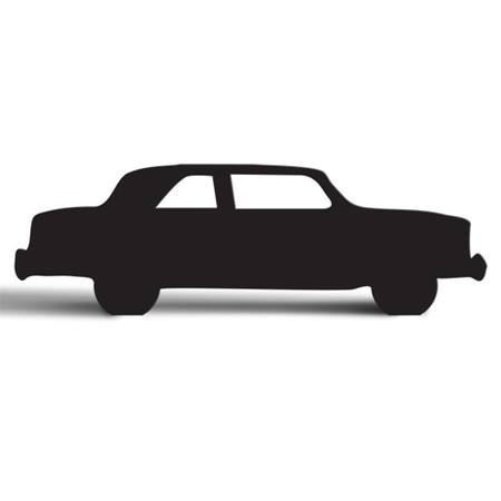 Classic Sedan Cut Out Silhouette