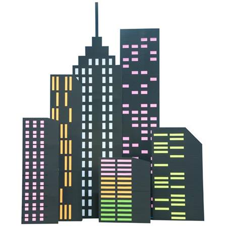 Urban Nights Uptown Buildings Kit set of 6