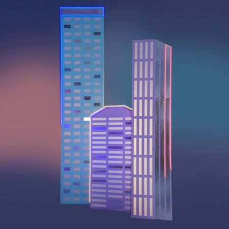 Downtown Vibe Buildings Kit (set of 3)