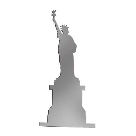 Silver Statue of Liberty Silhouette Kit