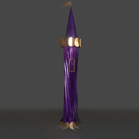Metallic Purple Carnival Column