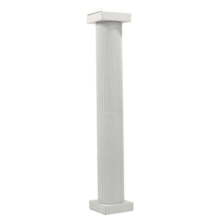 White Corrugated Columns Set – 8 ft