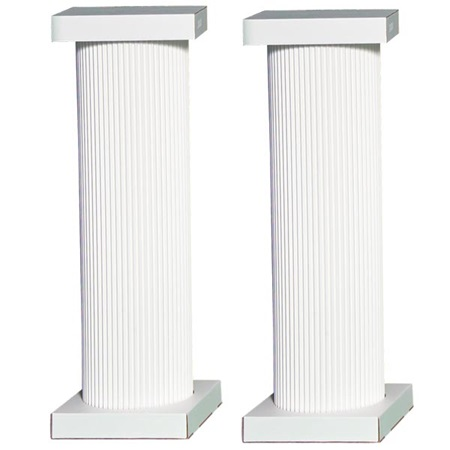 4 ft. White Traditional Columns (Set of 4)