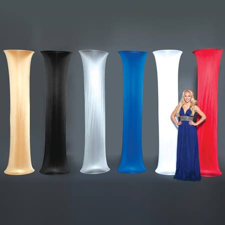 Satin Fabric Covered Column