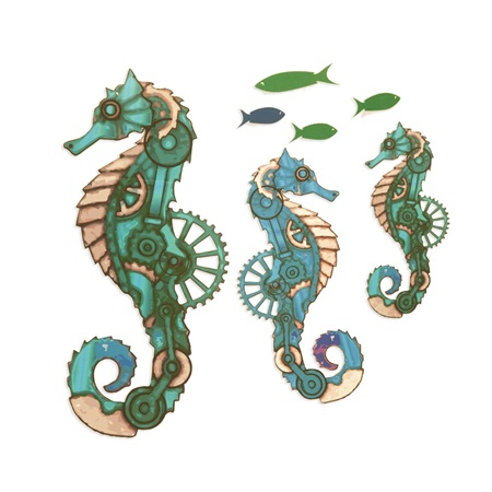 Citizens of the Sea Fish and Seahorses Kit (set of 12)