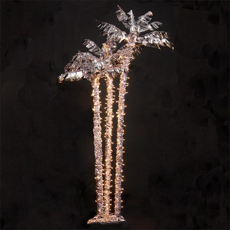 Silver Palm Tree Cluster