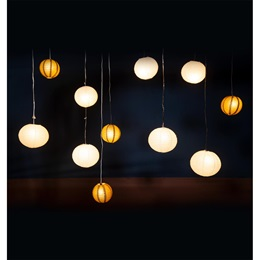 Garden Lights Hanging Lanterns Kit (set of 11)