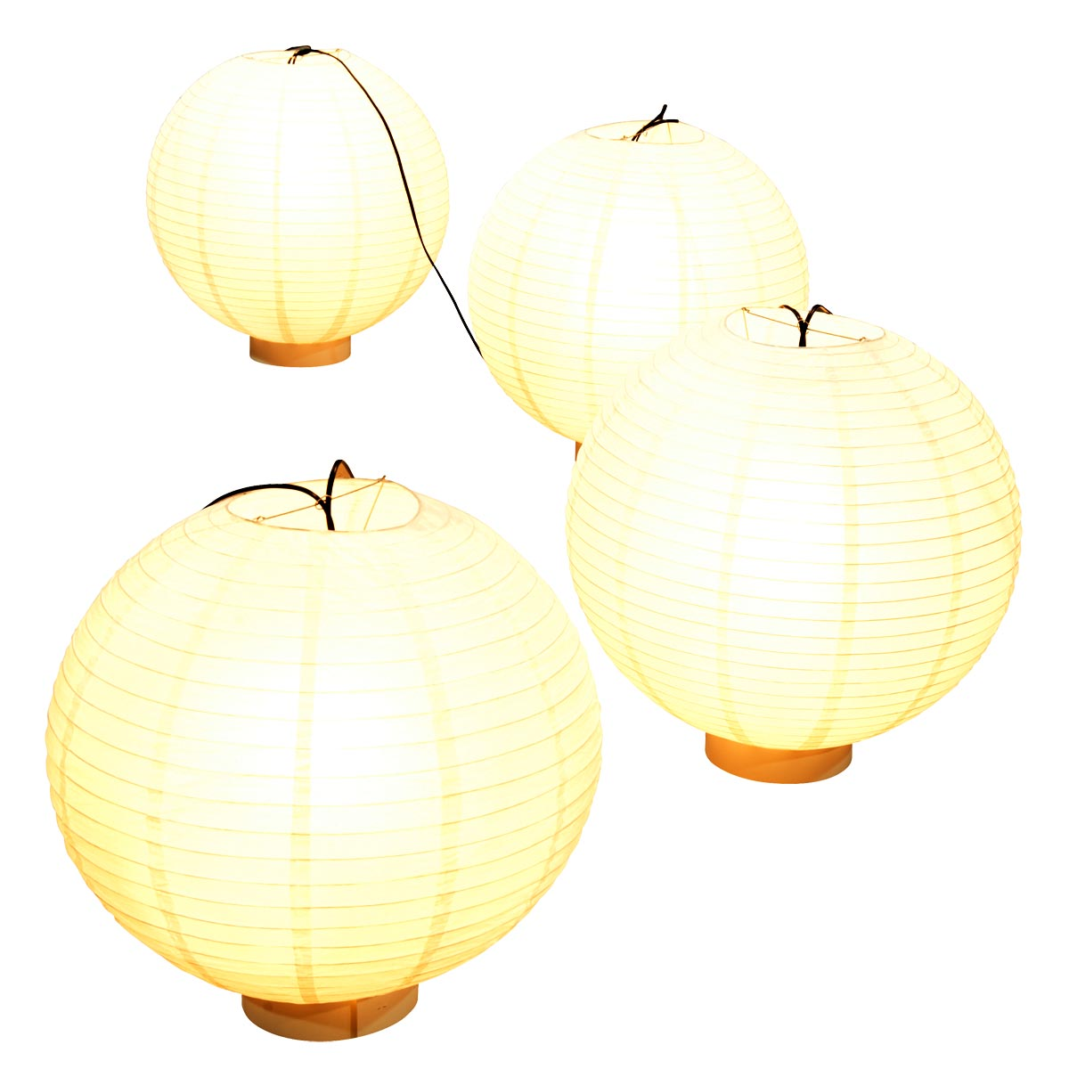 Luau Lights Lanterns Kit (set of 4)