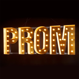 Prom Night in Lights Letters Kit
