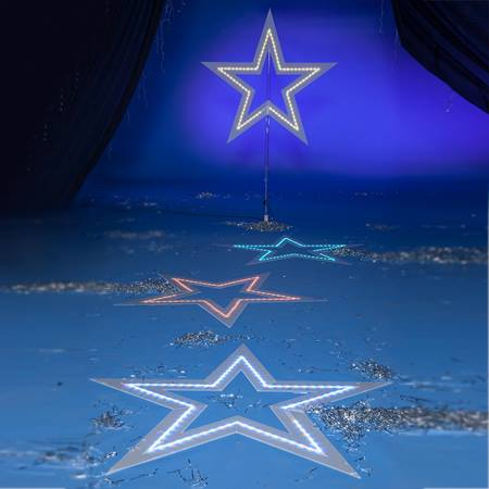 Starlight Party Lit Stars Kit (set of 4)