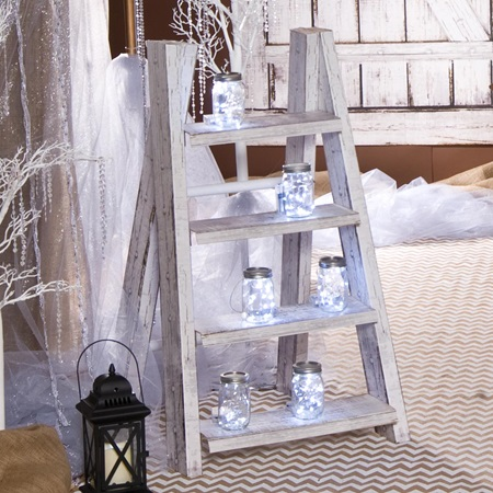 White Shabby Chic Step Ladder