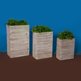 Country Patio Planters Kit (set of 3)