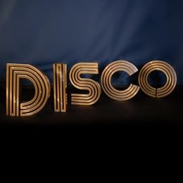 Solid Gold Disco Letters Kit