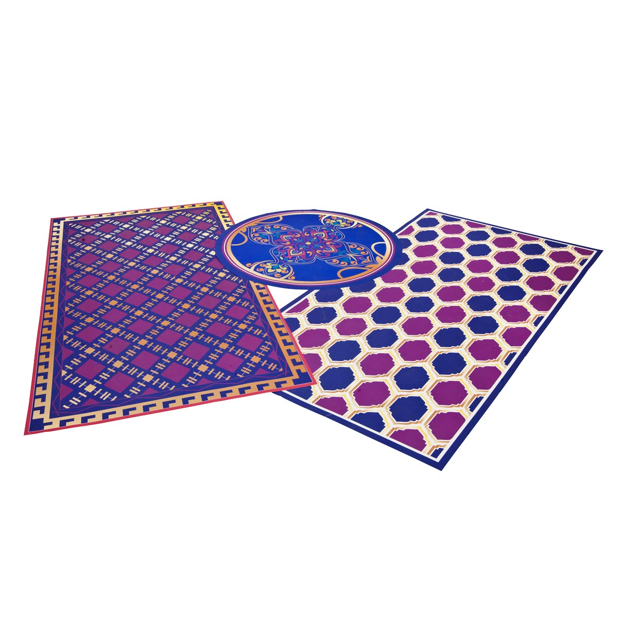 aesthetic expressions boho rugs kit set of 3