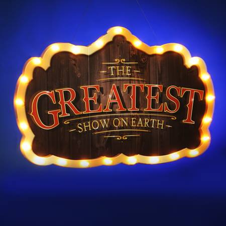 Greatest Show on Earth Lighted Sign Kit