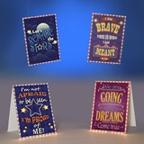 Inspirational Lit Hanging Signs Kit (set of 4)