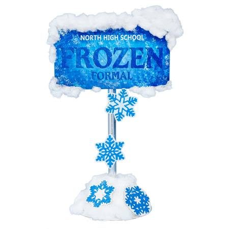 Snow-capped Frozen Sign Kit