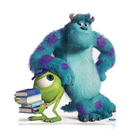 Mike and Sulley Monsters University Life Size Stand Up