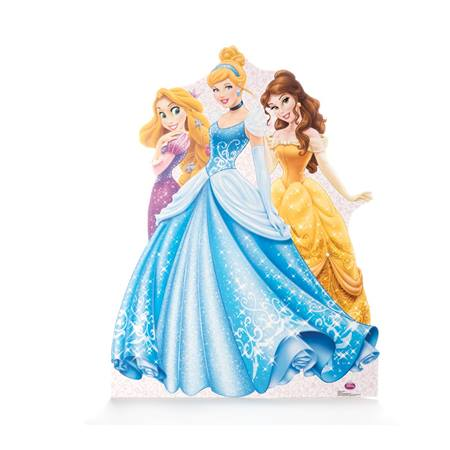 Rapunzel, Cinderella, and Belle Life Size Stand Up