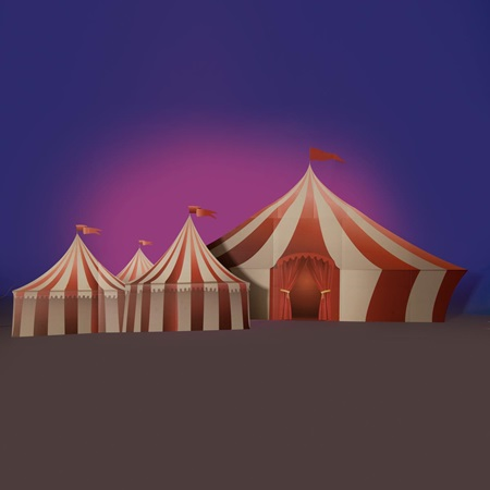 Awesome Attractions Printed Tents Kit (set of 2)
