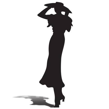 1930s Lady Silhouette