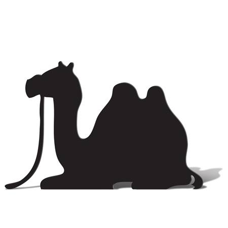 Sitting Camel Silhouette