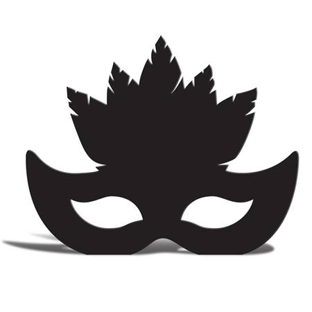 Feather Mask Silhouette