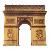 Arc de Triomphe Cardboard Stand Up