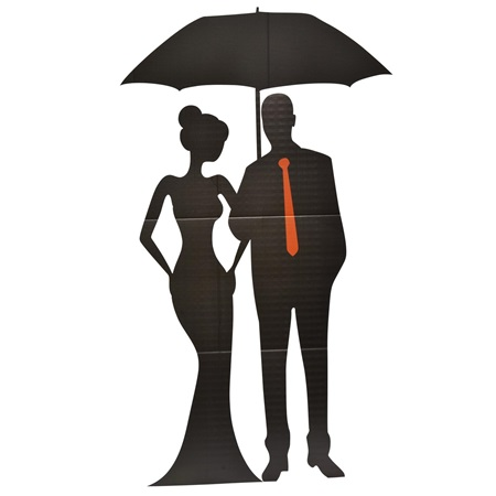Raindrops and Whispers Couple Silhouette Kit