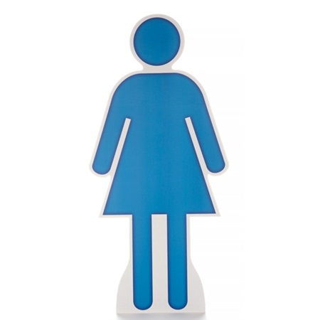 Woman Symbol Life Size Stand Up