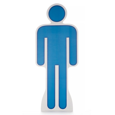 Man Symbol Life Size Stand Up