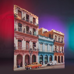 Barrio Building With Two Cars Kit