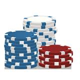 Poker Chips Life Size Stand Up
