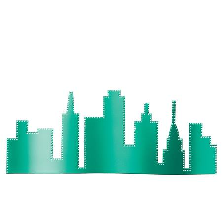 Teal City Skyline Silhouette Kit