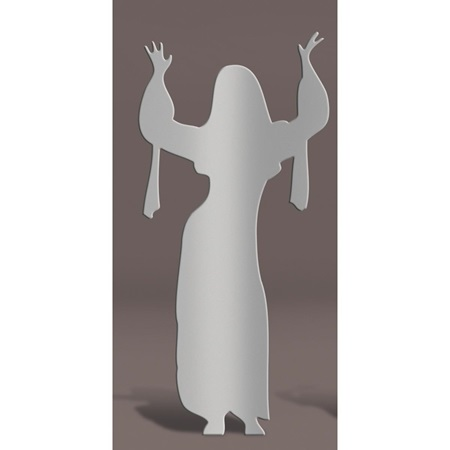 Silver Dancing Lady with Raised Arms Kit