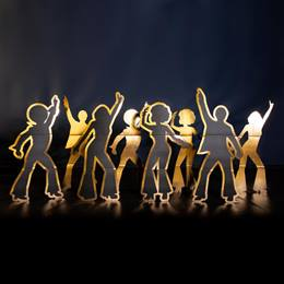 Disco Dancers Silhouette Kit (set of 8)