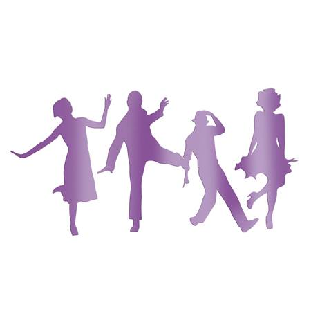 Purple Dressed to the Nines Dancers Silhouette Kit